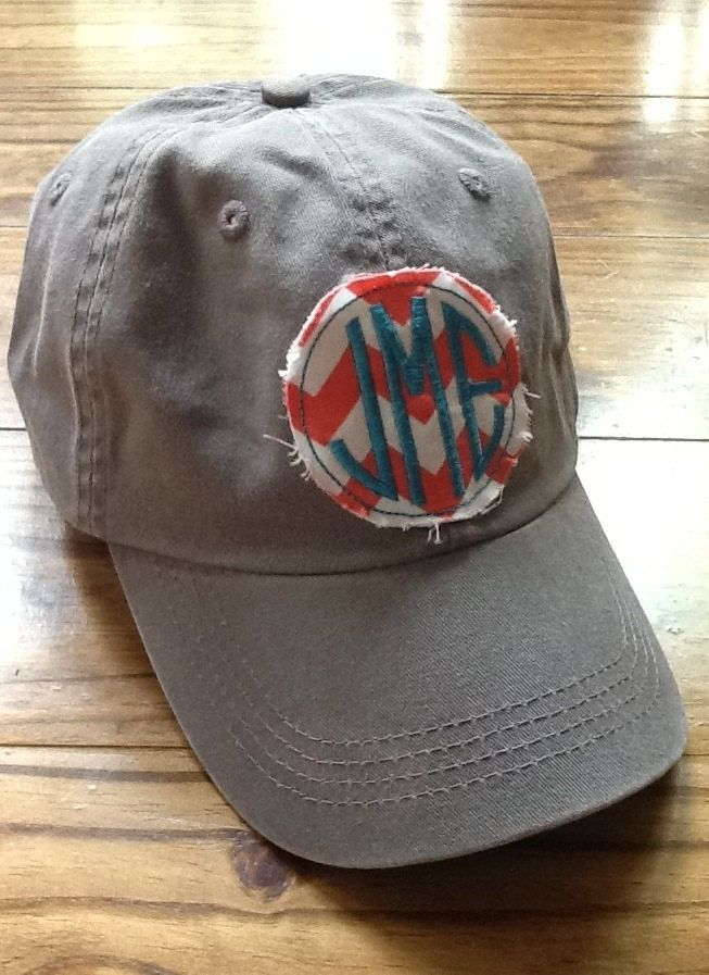 Ladies Monogrammed Hat by KBJsMonogram on Etsy, $20.00.: Baseball Cap, Head Of Garlic, Etsy, Clothing, Monograms Hats, Monograms Baseb, Super Cute, Beaches Trips, Ladies Monograms