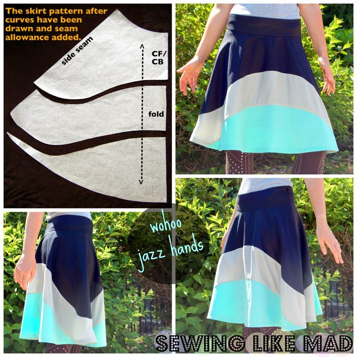 Sewing Like Mad: Skirt Week 2013 - How to draft a custom fit skirt pattern with a wide waistband.