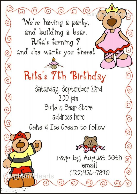 7 best Build a Bear Party images – Build a Bear Invitations Birthday