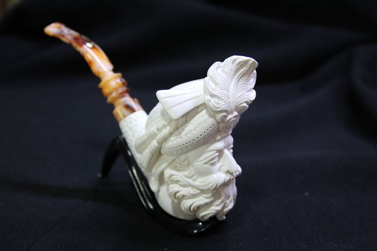 HAND CARVED MEERSCHAUM TURKISH PIPE, 010