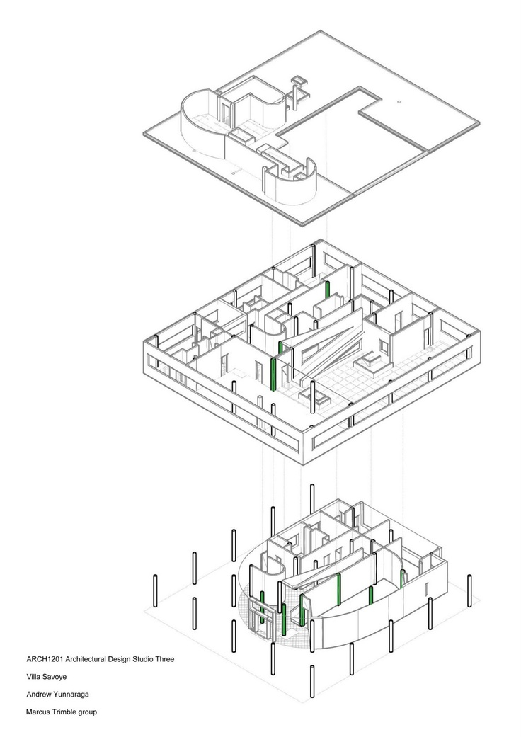 Best 20 villa savoye plan ideas on pinterest villa for Villa plan dwg