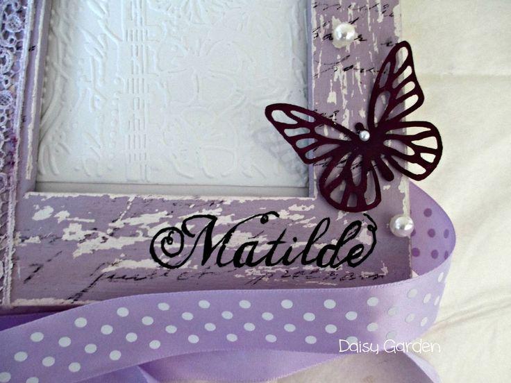 Cornice shabby chic per il primo compleanno di Matilde