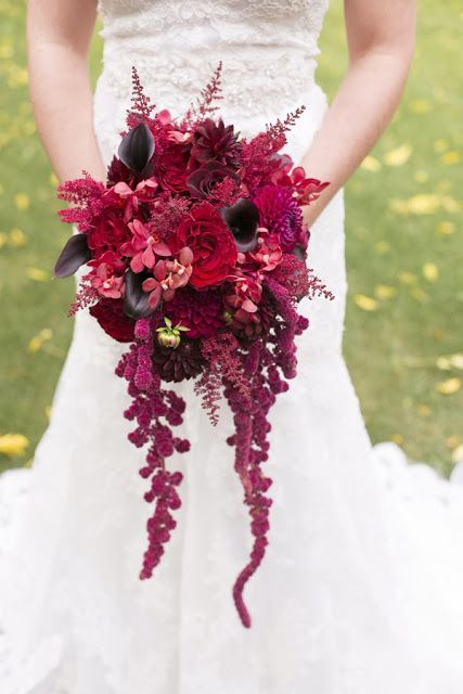 { Ask Cynthia }: Wedding Inspirations   Gothic Victorian Styled Wedding Shoot from Ruffled   Burgundy Bouquet