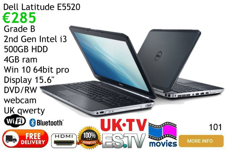 Dell Latitude E5520 Laptop Computer for sale free delivery mainland Spain, local pickups  Malaga area Frigiliana Nerja Torrox Competa