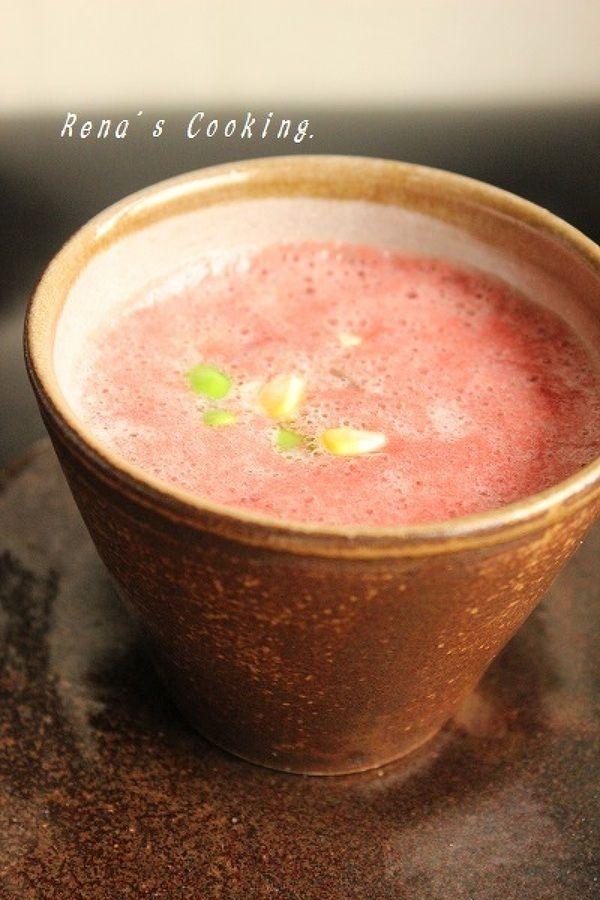 トマトの冷製スープ(枝豆・とうもろこし入り) by レナ♪ | レシピ ...