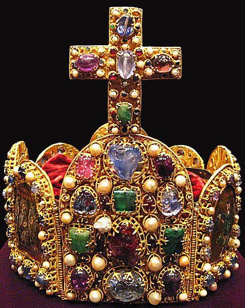 The octagonal crown fashioned from pure gold is studded with 144 precious stones and just as many pearls yet it is a priceless artifact for other reasons. The crown almost certainly once graced the head of the first German emperor Otto I more than 1,000 years ago. For hundreds of years it has been one of the most potent symbols of the Holy Roman Empire, the German kingdom which stretched across most of Central Europe.