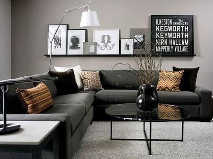 46 Male Apartment Decorating Ideas For Men Living Room Grey Apartment Living Room Small Living Rooms