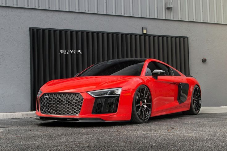 Lady In Red Audi R8 Enhanced With Carbon Fiber Audi Audi R8 V10 Plus Red Audi Audi R8