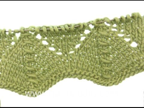 DROPS Knitting Tutorial: How to work lace pattern after chart A.1 in DROPS 165-22 - YouTube