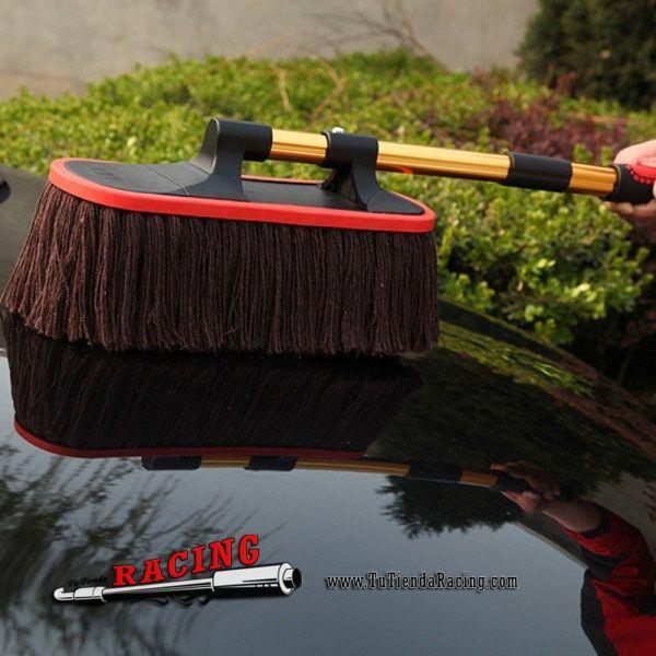 34,85€ - ENVÍO SIEMPRE GRATUITO - Mopa Cepillo de Limpieza para Coche Anti-Arañazos Pintura Universal Color Rojo/Amarillo - TUTIENDARACING