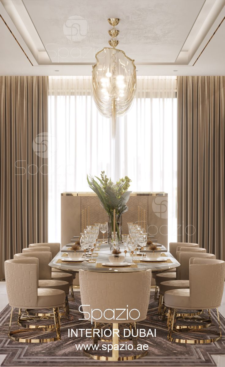 Luxury Dining Room Furniture: Villa Interior Design In Dubai