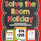 A fun activity based off of Read the Room activities where students move around the room solving math problems.