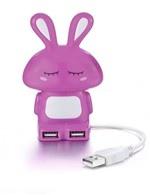 Multipla USB conigliettio rosa