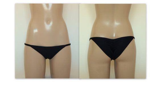 Solid black scrunch bikini bottoms-Swimsuit-Brazilian bottoms-Bathing suit-Scrunch side bottoms-Choose your COLOR!!! PLUS SIZE !!!!