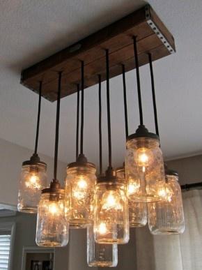 Mason Jar lamp.