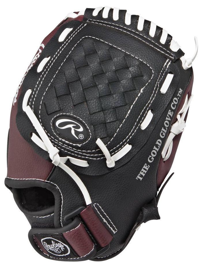 """Rawlings Players Series 10.5-inch Youth Baseball Glove, Right-Hand Throw (PL105BB). Size: 10.5"""". Color: Black/Royal Blue/White. Product Type: Baseball Gloves. Material: Vinyl. Pattern Size: 11""""."""