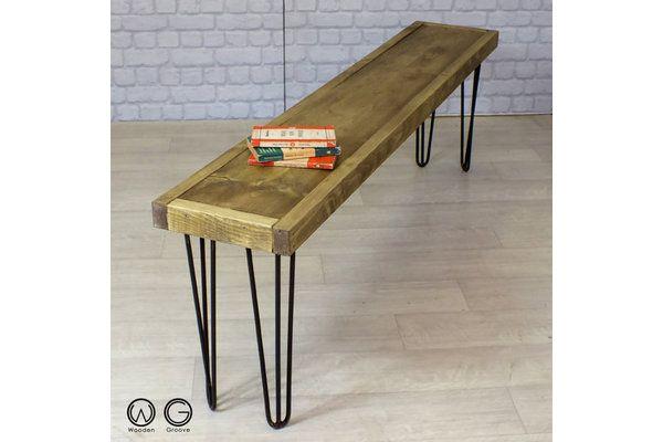 Industrial Reclaimed Rustic Timber Bench | Vinterior London  #design #furniture #interiors