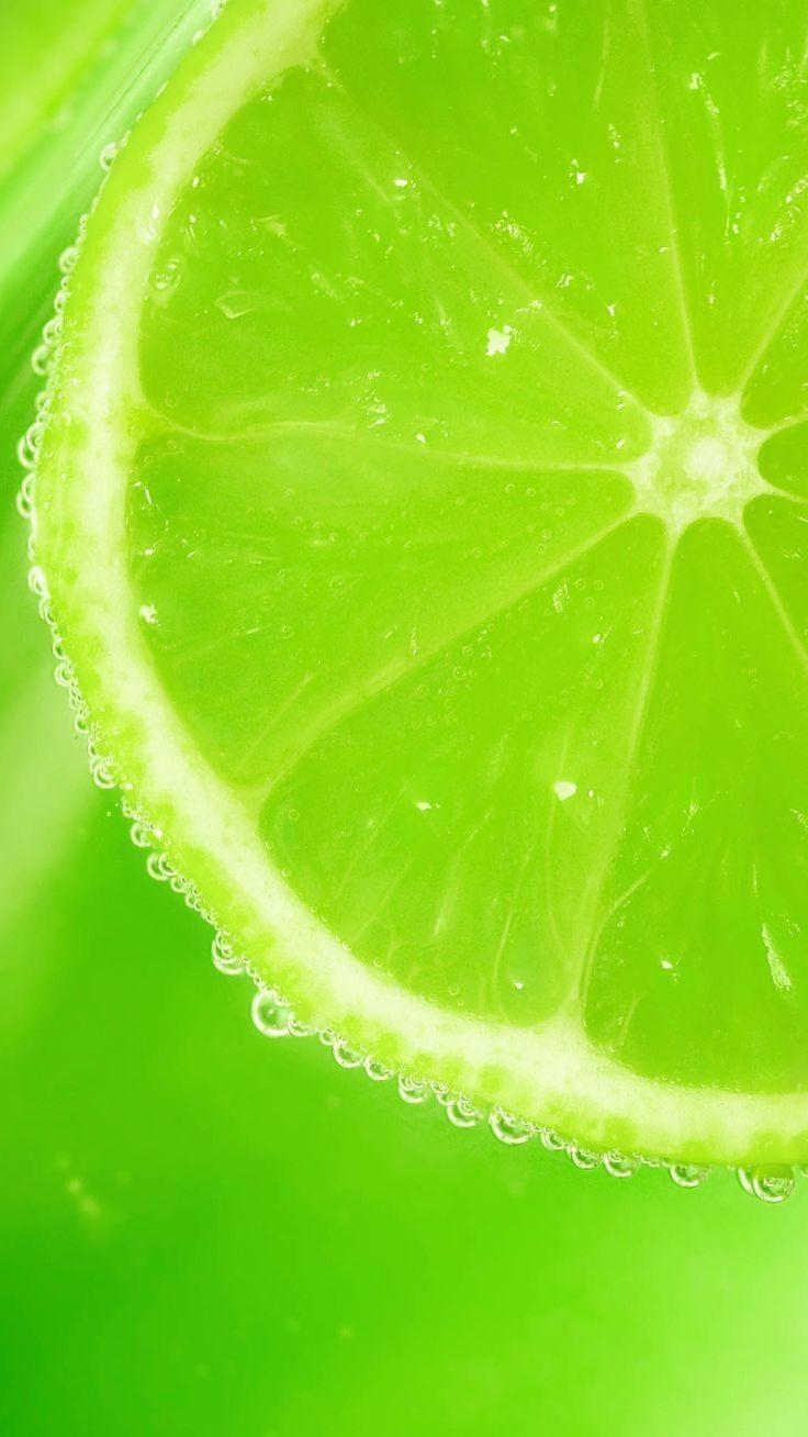 Hd wallpaper lime slice bubbles macro