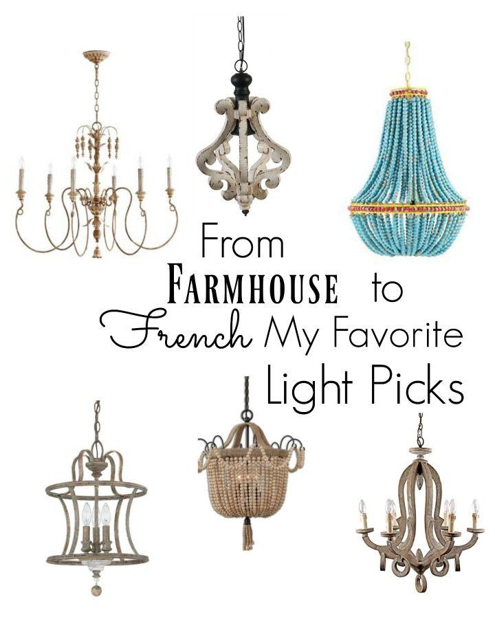 Farmhouse To French Lighting