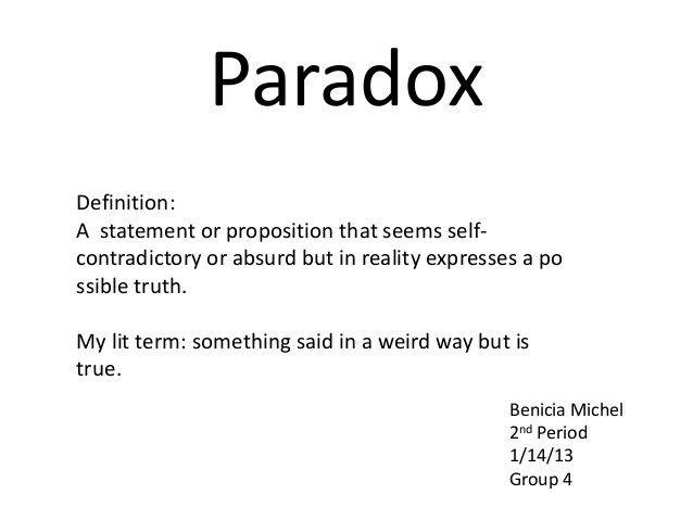 paradox literary devices math paradox math equations