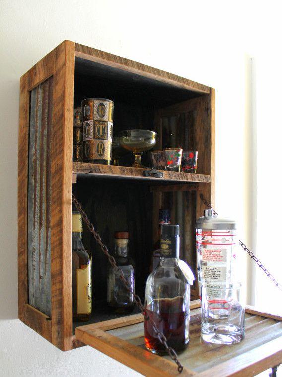 wall mounted liquor cabinet