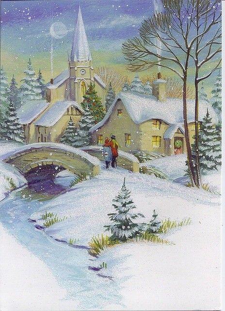 HIVER & NOEL illustrations vintage