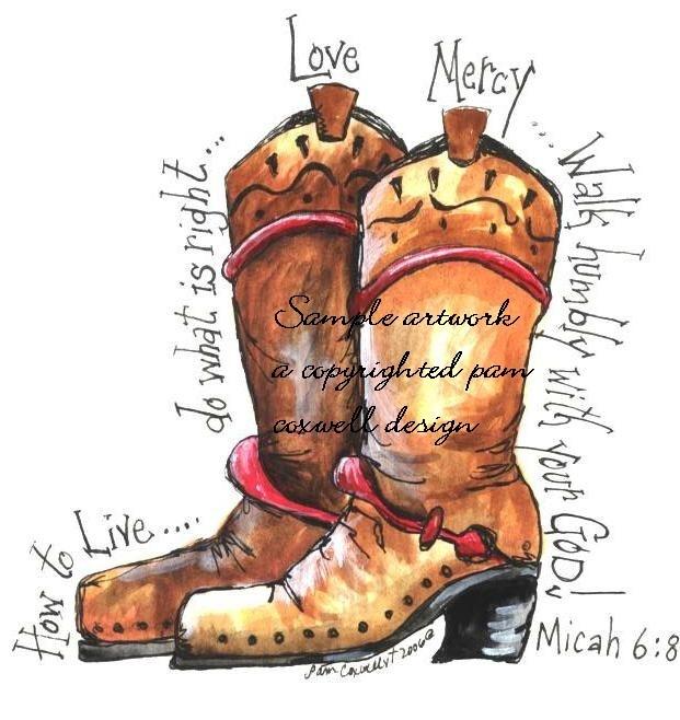 Cowboy Boot Print