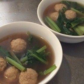 10分で完成◇肉団子とターサイのスープ