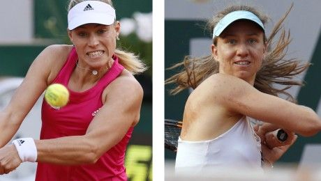 5/30/14 Germans Angelique Kerber & Mona Barthel. #8-Seed Angie advanced to the 4th rd def. #31-Seed Daniela Hantuchova 7-5, 6-3 in the 3rd rd of the French Open 2014. but Mona lost to Paulie Parmetier 6-1, 1-6, 5-7 in the 3rd rd.