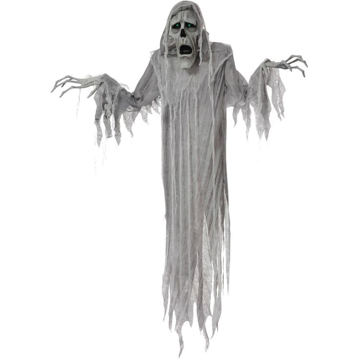 "Halloween Animated Prop Hanging Phantom 72"" Ghost Haunted House Scary Decoration"