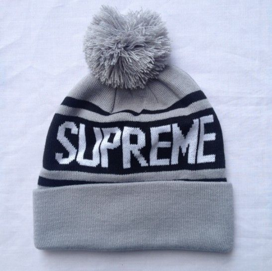 Supreme Ribbed Beanie Knit Hats--grey 0319768! Only  7.90USD ... b4747dca746
