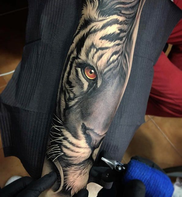 Tiger tattoo by David Garcia