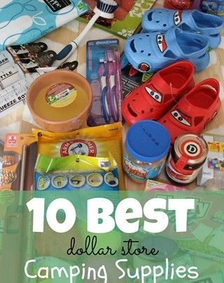 10 Best Camping Supplies from a dollar store (2nd article down, also has a great list of the camping supplies they bring along)
