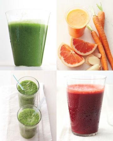 28-Day Mind + Body Challenge - Whole Living. Has really great juicing combinations!