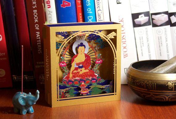 Buddha statue, paper gold statue of Buddha, meditation, zen, meditating Buddha, yoga, buddhist, buddhism, Buddha Art, meditation statue