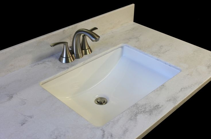 Corian Rain Cloud vanity top with rectangular China bowl  offered by NantucketVanityTops.com