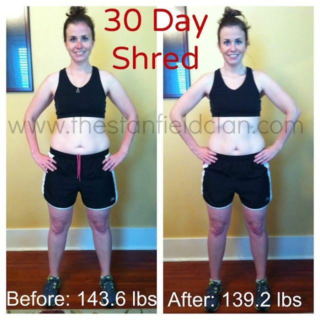 30 Day Shred Challenge Fitness Pinterest Exercises