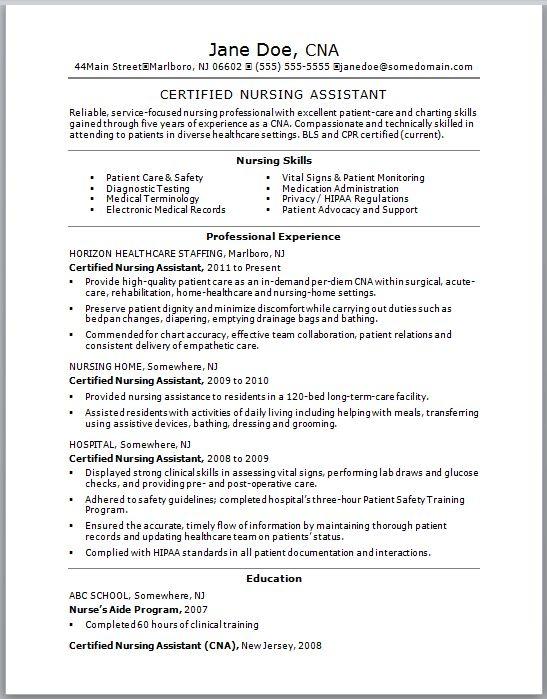 Best 20+ Nursing resume template ideas on Pinterest Nursing - entry level cna resume