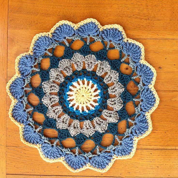 Tequila Sunrise Mandala Doily By Angela Armstrong - Free Crochet Pattern - (ravelry)