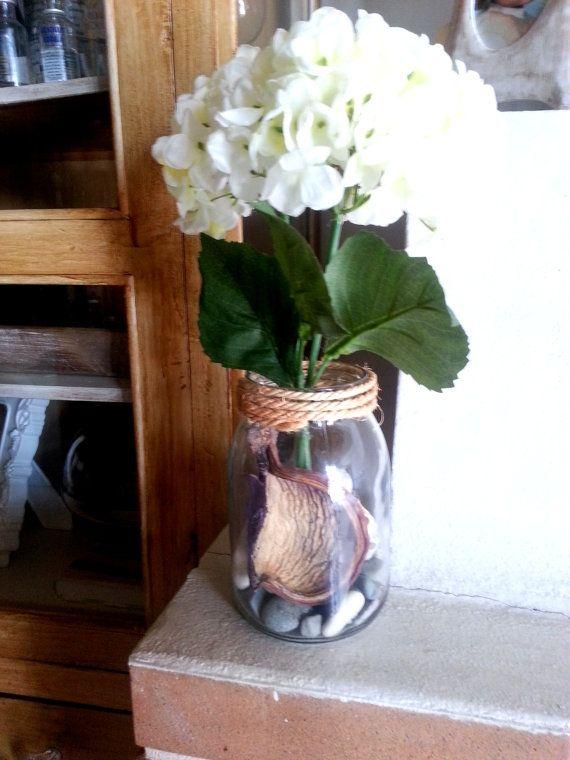 Vase  Centerpiece  Wedding  ShowerWhite by Saradonnapurple on Etsy, €18.99