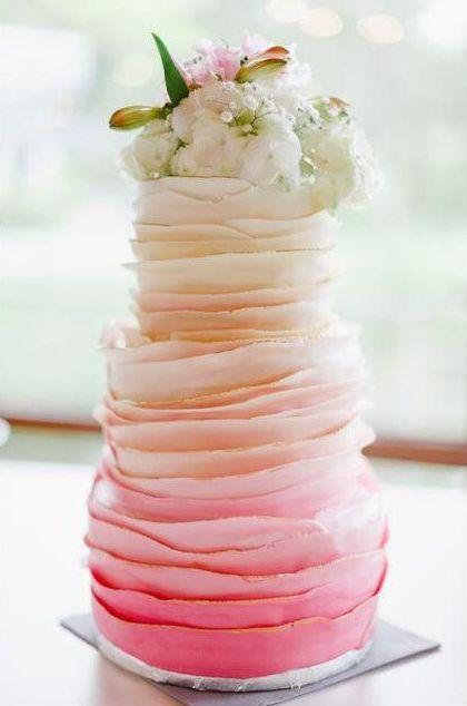 Gelbe Ombré Hochzeitstorte   Foto: tortenmacher.com
