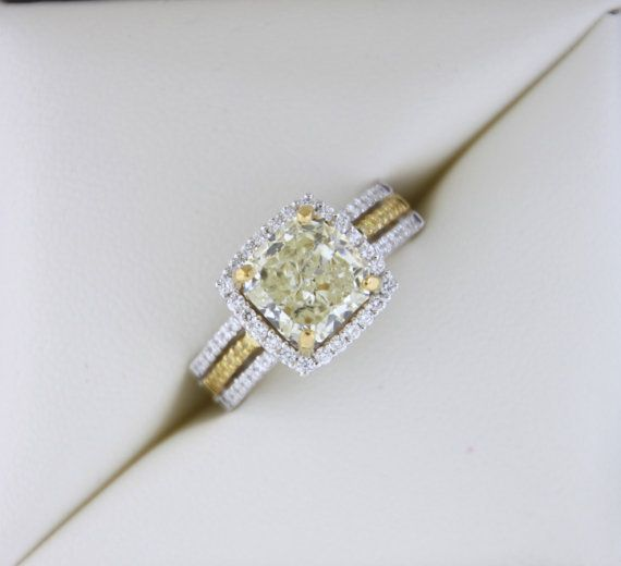 Radiant 378ctw Canary Yellow Diamond Ring by RothschildDiamond, $16275.00...In Love with this ring! Forget the man.