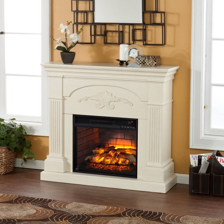 Southern Enterprises Sicilian Harvest Electric Fireplace in Ivory ** Continue to the product at the image link. (This is an affiliate link and I receive a commission for the sales)