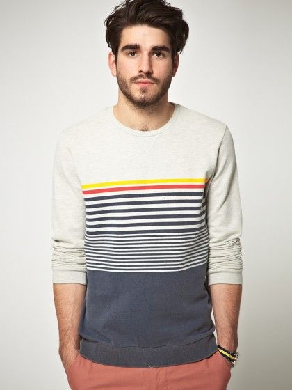 Sweatshirt With Graduated Stripes