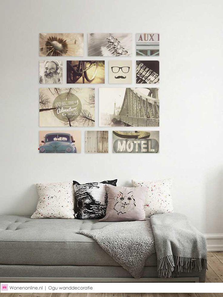 ogu wanddecoratie tes interieur and vintage. Black Bedroom Furniture Sets. Home Design Ideas