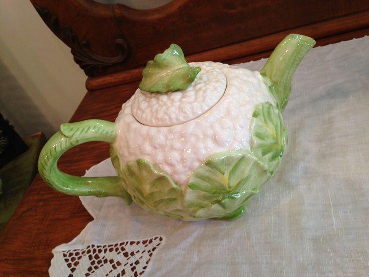 Rare Vintage Porcelain Majolica Fitz And Floyd Cauliflower