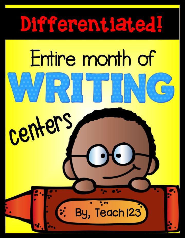 Writing Centers for an Entire Month: Are you looking for a writing center that you can set up up for the entire month? It is a center that is quick and easy to set up. Once your students learn the format the first week, you (hopefully) won't have to spend too much time go over instructions for the center the following weeks. FREE sample plus $ lessons.