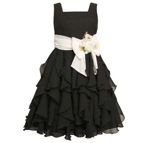 Tween Girls Dresses 7 16 | Bonnie Jean TWEEN GIRLS 7-16 BLACK WHITE ... | Church clothes for Emma