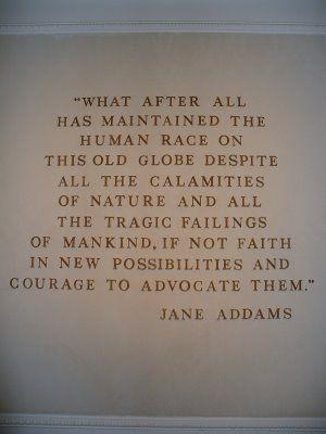 Jane Addams pioneer of social work