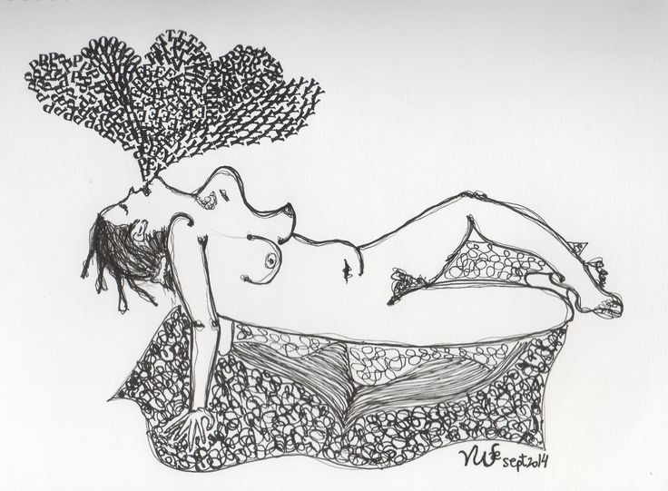Poetry. Life drawing. By Violeta Camarasa